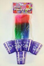 PARTY READY!  Lot 29 Shotglasses 24 Color + 5 Purple Sambuca Plastic Jello Shot