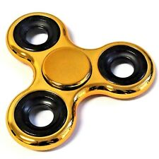 1 Finger Hand Fidget Spinner gold schwarz Präzisions - Kugellager Top Spin ADHS