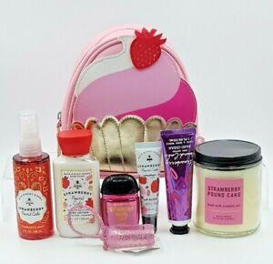 Bath & Body Works Strawberry Pound Cake  Travel Sized Gift Set