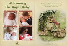 Palau 2018 MNH Prince Louis Royal Baby Prince William Kate 4v M/S Royalty Stamps
