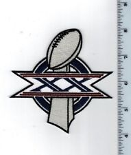 "Super Bowl XX 1986 4"" Patch 1985 Chicago Bears New England Patriots New Orleans"