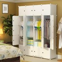 Elpitha Wardrobe Portable Clothes Closet Organizer Bedroom Armoire Dresser Cu...