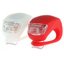 Bike Lights! (2)-Adjustable Red and White-3 Settings (On,Quick Flash,Slow Flash)
