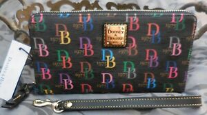 Dooney & Bourke ~Signature Large Zip Around Wallet Wristlet~BLACK MULTI~NWT $158