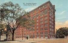 Grand Rapids Michigan Furniture Temple Antique Postcard J51128