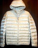 Uniqlo  Men's Off White Ultra Light Down Parka Coat Jacket Sz US XL NEW