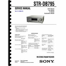 Sony STR-DB795 Stereo Receiver Service Manual (Pages: 98) 11x17 Drawings