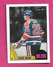 1987-88 OPC # 206 OILERS CRAIG MUNI   ROOKIE NRMT CARD (INV# A8124)