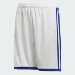 New Adidas Boys Regita 18 Soccer Basketball Athletic Summer White Shorts M - L