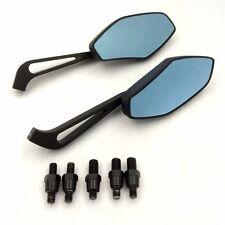 Black mirrors Fit moto with 8mm or 10mm clockwise Suzuki Harley handlebar