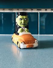 Frankenstein In Car Salt and Pepper Shakers NEW Halloween Tableware Ceramic