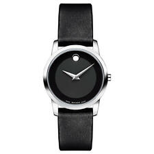 Movado Museum Classic 0606503 Black Leather Analog Swiss Quartz Women's Watch
