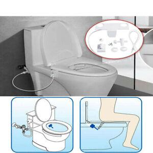 Smart Bidet Toilet Seat Fresh Water Spray Clean Bathroom Non Electric Attachment