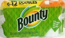 BOUNTY PAPER TOWELS-6 DOUBLE ROLLS=12 ROLLS (FULL SHEETS)-SHIPS 2-5 DAY PRIORITY