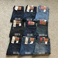 NWT New Men's Levi's 505 Regular Fit Straight Leg Middlerise Jeans Pants