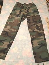 Military Woodland combat trousers Pants Cargo Camouflage Small Regular