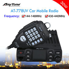 AnyTone AT-778UV VHF UHF Amateur Car Mobile Radio 30W 2-Way Transceiver With Mic
