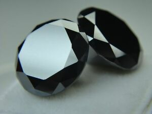 Black Loose Moissanite Round 15.00mm Forever Brilliance For Jewelry Ring