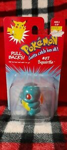 Vintage 1999 Pokemon SQUIRTLE Pullback Official Licensed Hasbro Collectible