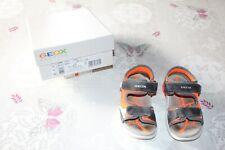 Sandalettes Geox Gris Orange Fluo - Garçon - 27 - Très bon état