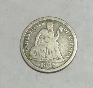 1877 CC SEATED DIME