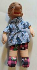 """Vintage Mr. Magoo 13"""" Plush Doll In Bath Robe Soft Body w/ Rubber Head !"""