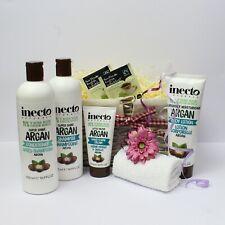 Vegan Toiletries Gift Basket for Her - Inecto Argan Body Care. Ladies Pamper.