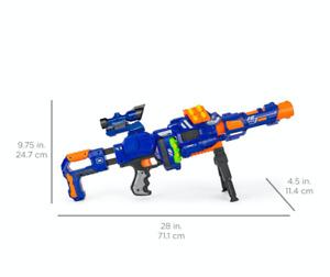 New SNIPER RIFLE Foam Dart Blaster FULLY MOTORIZED Boy's Toy Gun Nerf Rival Comp