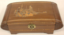 Wooden Jewelry Box with Mirror, vintage, Prop Box