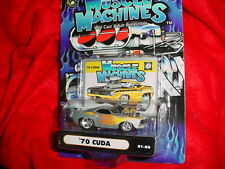 MUSCLE MACHINES '70 CUDA SILVER FLAMED 01-86 FREE USA SHIPPING