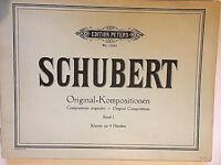 Franz Schubert : Original-Kompositionen, Band 1, Klavier zu 4 Händen