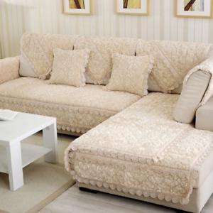 Sofa Cover Velvet Slipcover Slip Seater Couch  Sofas Towel Room Decor Cushion