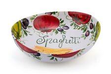 BASSANO bemalte Pasta Schale asymetrisch Italienische Keramik 29,5x26,5x6/8 cm