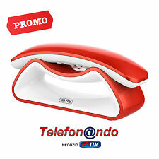 TELEFONO CORDLESS FACILE SMILE TIM TELECOM ROSSO - RED