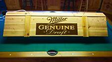 New MGD Miller Genuine Draft Pool Table Light & Cue Rack Combo!