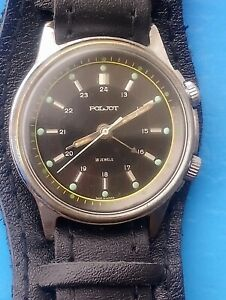 Vintage POLJOT cal 2612.1,  Mechanical ALARM Soviet USSR Men's Watch .