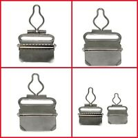 38mm Metal Clips Dungaree Buckles for Suspender Brace Garment Silver 2pcs