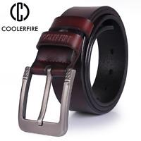 New High quality genuine leather belt luxury designer belts Strap Jeans cowboy
