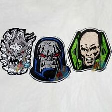 Superman Set 3 Embroidered Patches Villains Comic Doomsday Darkseid Lex Luthor