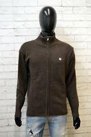 Maglione Uomo North Sails Taglia L Cardigan Pullover Sweater Felpa Lana Marrone