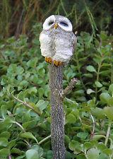 Miniature Dollhouse FAIRY GARDEN ~ Sleepy Owl Planter Pot Stake ~ NEW