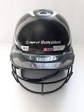 Rip-It Vision Classic Pro Softball Batter Helmet W/ Mask M-L  Black New