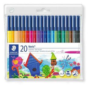 Staedtler Noris®  Wallet of 20 Fibre-Tip Pens/1mm/Colouring/Artist/Bullet Jounal