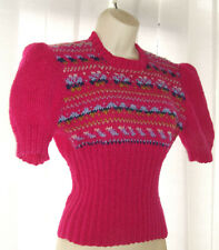 """💕Pure New Wool Jumper  Handknit To Vintage 1940's Pattern size 34"""" - 36"""" Bust"""