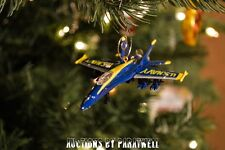 US Navy F/A 18 Hornet Fighter Jet Custom Christmas Ornament 1/64 U of M colors