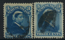 NEWFOUNDLAND USED #49 (9) SHADES/CANCELS, (2) SHOWN, OUTSTANDING, PRISTINE