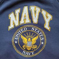 Vintage 90s United States Navy Crewneck Sweatshirt Adult XL USNA Blue Hanes
