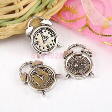 8Pcs Tibetan Silver Alarm Clock Charms Pendants 13x17mm LA4502