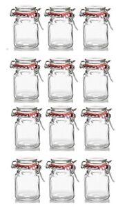 12 Mini Kilner Preserve Jars With Clip Seal Spice Jars 70ml