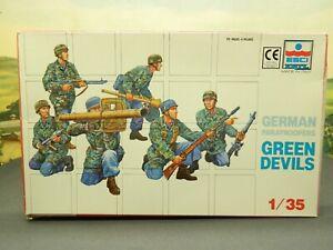 "1:35 Kit Vintage Esci / Ertl No. 5004 GERMAN PARATROOPERS ""GREEN DEVILS"" New"